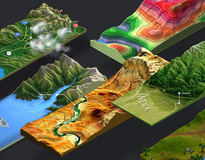 3D Map Generator - Atlas on Behance