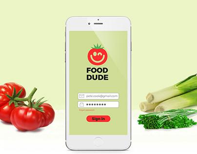 Meal Manager App Design UI UX
