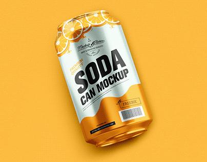 Free Packaging Soda Can Mockup