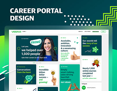 Veeam Global Career Portal Design
