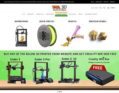 3d Printer Manufacturing Website Layout