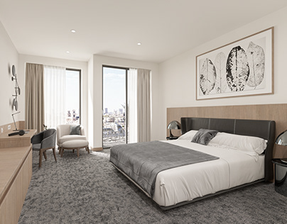 Hotel Room Interior Design.