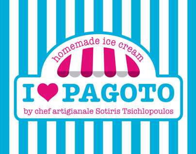 I love PAGOTO Ice Cream - Logo Redesign & Packaging