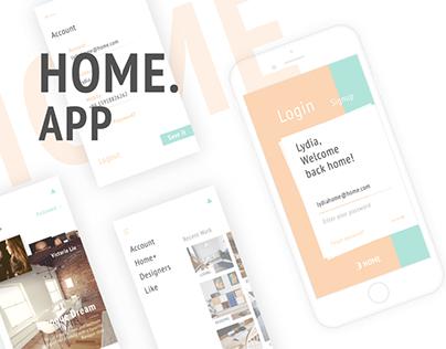 【App UI】--HOME#02--Interior Design