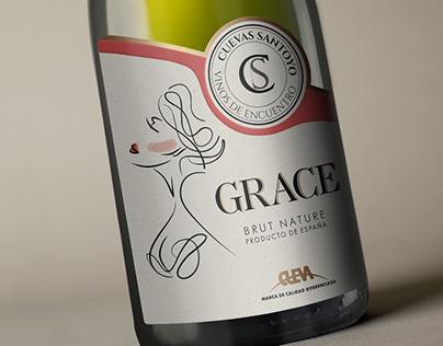 Sparkling wine label