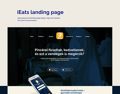App proposal and landing page