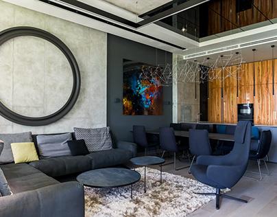Проект интерьеров квартиры в современном стиле