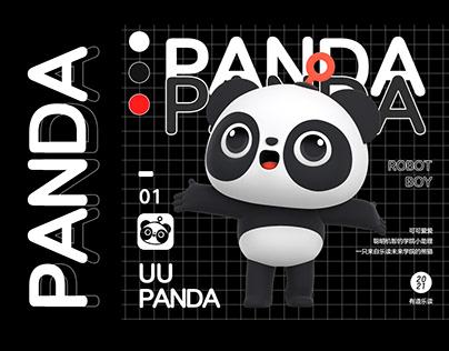 卡通3D熊猫 IP制作流程分享 少儿教育产品形象制作