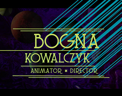 animator&director SHOWREEL_Bogna Kowalczyk