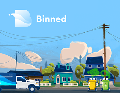Binned: Illustration and Animation for Cleaning Service