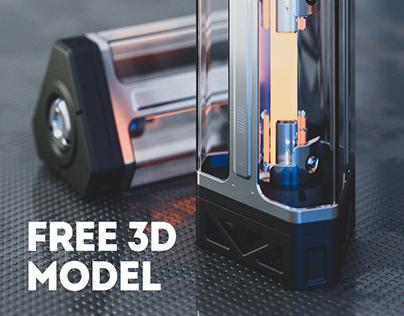 Sci-Fi Energy Device - Free 3d model