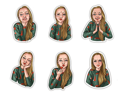 Stickers portraits for social networks