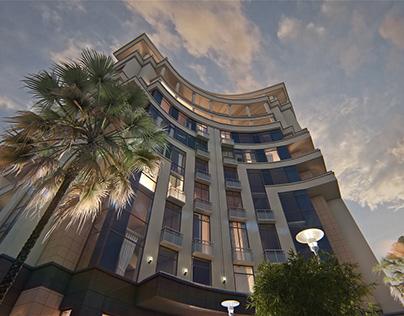 "Architectural visualization ""Yalta Plaza"""
