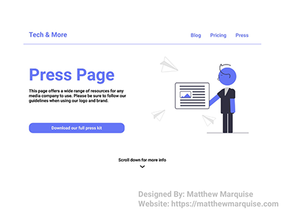 Daily UI 051 :: Press Page