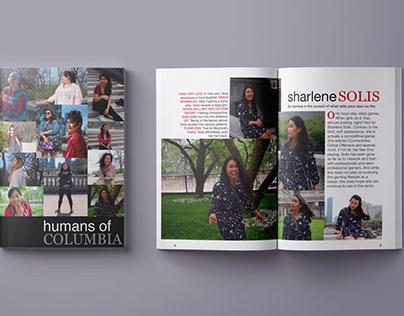 humans of columbia zine