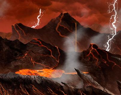 """Ilustración """"Cielo e infierno"""""""