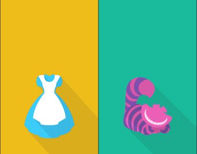 Alice in Wonderland Icons