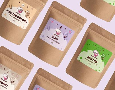 Boba Chef Bubble Tea   Package Design