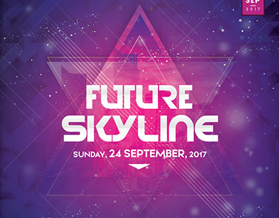 Future Skyline - PSD Flyer Template
