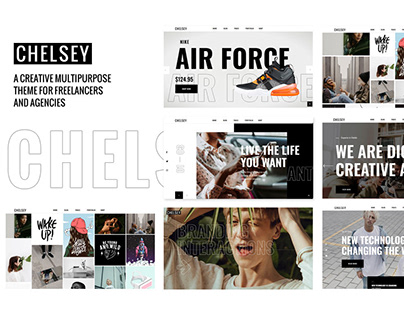 Chelsey - Portfolio Theme for Freelancers and Agencies
