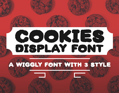 Cookies display font