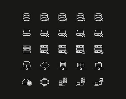 Database and Storage Icons