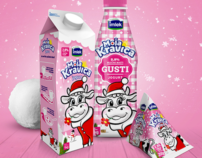 Imlek Winter Edition yogurt packaging design