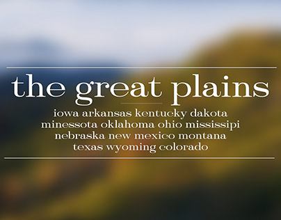 The great plains' type