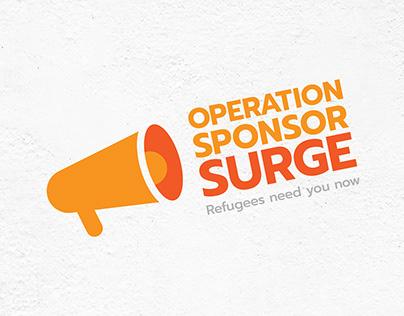 Operation Sponsor Surge | BVOR Refugee Program Logo