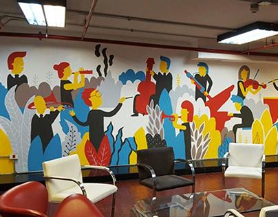 Mural Teatro Colón | Orquesta