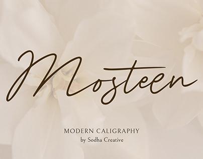 Mosteen - Signature Font