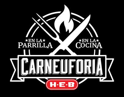 Logo CARNEUFORIA H-E-B