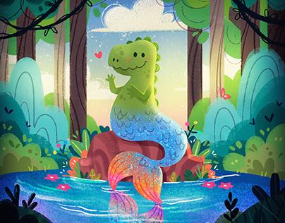 Dinosereio - Kids illustration