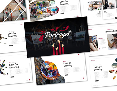 Potrayal – Art Powerpoint and Keynote Template