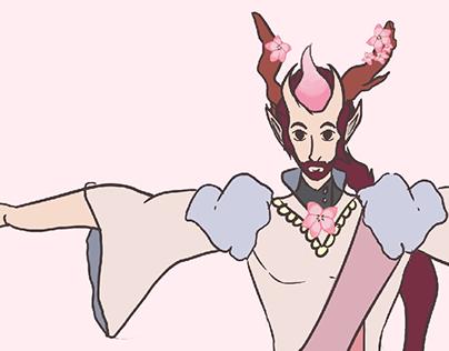 Character Design - Peach Tree Warrior