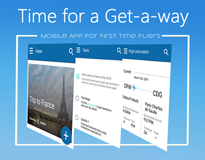 Get-a-way, a mobile app for airplane travel