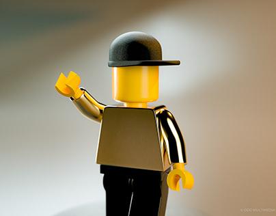 GoldenLego ManToy Figure