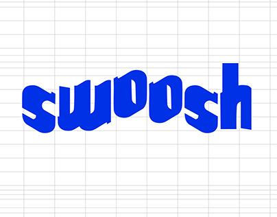 SWOOSH display font