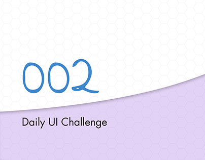 Daily UI Challenge 002