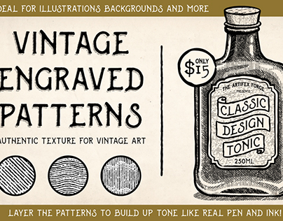 Vintage Engraved Patterns for Illustrator