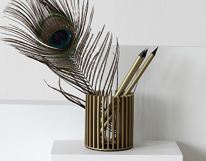 Sunray pencil holder
