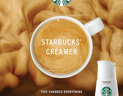 Starbucks Creamer ads