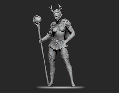 Firbolg Wizard - Client Commission - 3D Printing