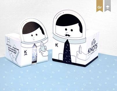 Knots Tie/Neckwear Packaging Design!