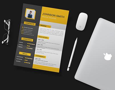 Resume Design - Single Page