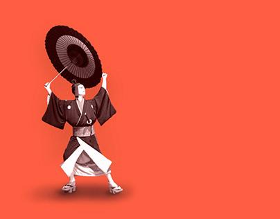 Kabuki - Sukeroku Theater - A Traditional Japanese