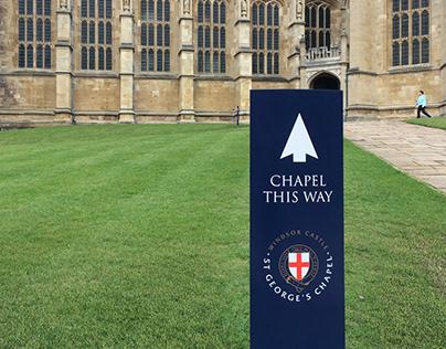 Signage design for St George's Chapel, Windsor Castle