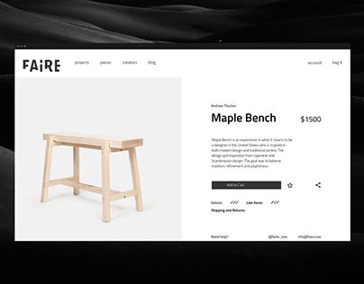 Faire – A Minimalist E-Commerce Experience