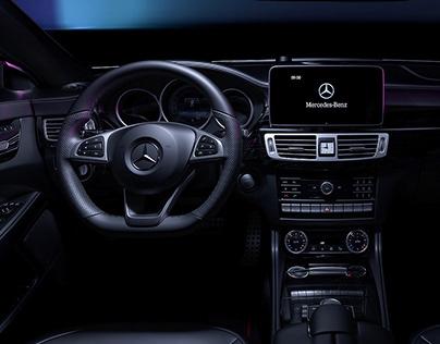 CGI   Mercedes Benz CLS - Interior - Dark
