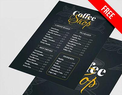 Free Coffee Shop Menu Template